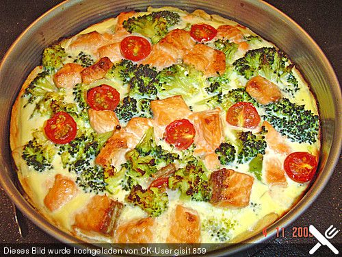 Brokkoli - Lachs - Quiche