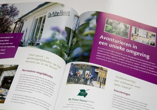 SterGroep, een voorbeeld spread uit de brochure.