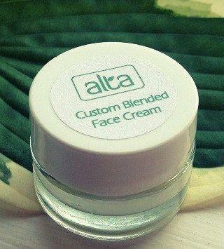 With unique facial cream