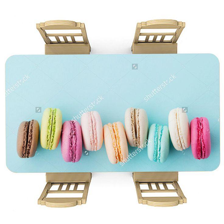 Tafelsticker Macarons | Maak je tafel persoonlijk met een fraaie sticker. De stickers zijn zowel mat als glanzend verkrijgbaar. Geschikt voor binnen EN buiten! #tafel #sticker #tafelsticker #uniek #persoonlijk #interieur #huisdecoratie #diy #persoonlijk #macaron #macarons #feest #lekker #lekkernij #keuken #meidenkamer #meisjeskamer #kleurrijk #blauw #zoet