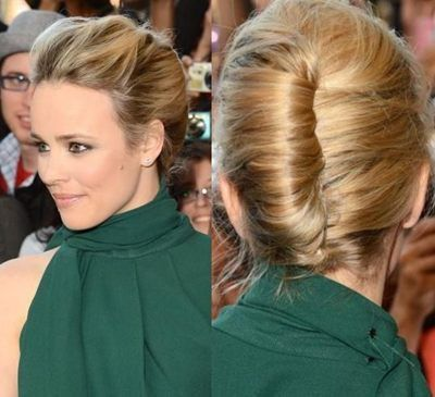 Best 25 french roll updo ideas on pinterest french roll hair french twist hairstyle of rachel mcadams pmusecretfo Choice Image