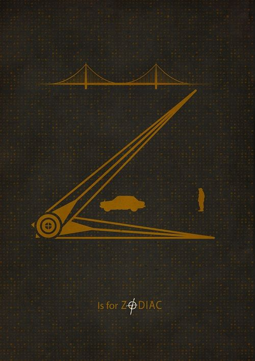 Z is for 'Zodiac'. Movie Friday: Alphabet Movie Posters by Meagan Highland #movies #design