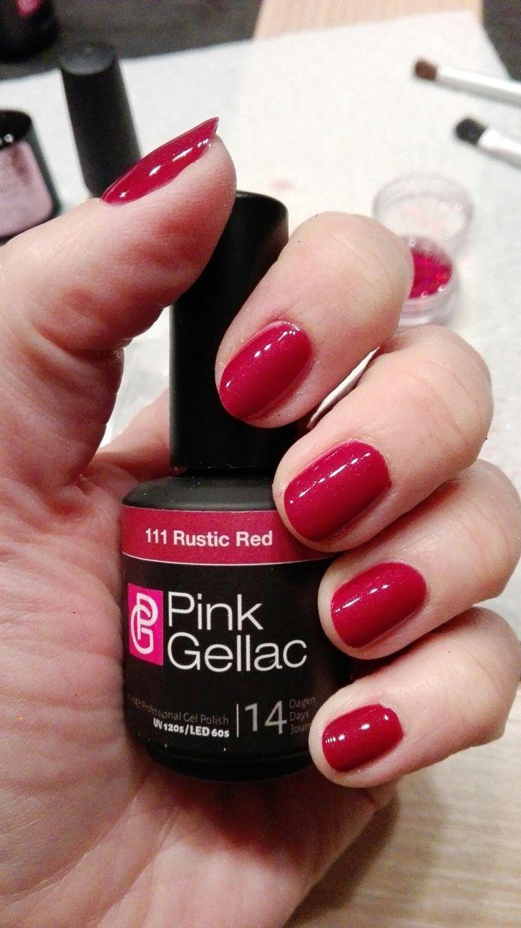 Pink gellac - rustic red
