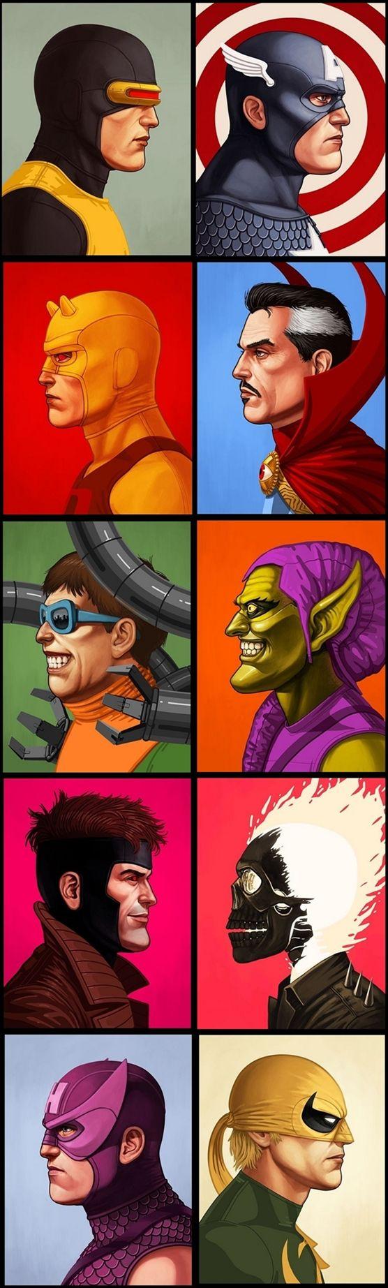 MARVEL-Themed Showcase At The Mondo Gallery / Ciclops / Captain America / Gambit / Hawkeye / Green Goblin / Octopus