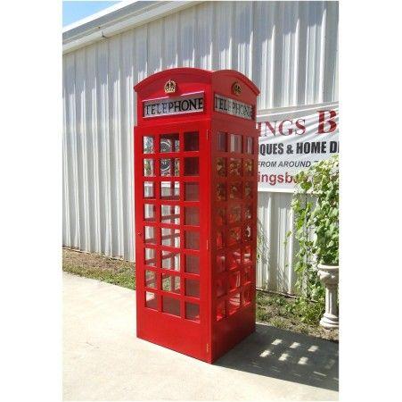 england phone telephone booth red replica wood old jaguar london calling british
