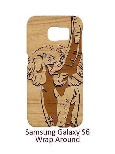 Carving Elephant Style Wood Case for Samsung Galaxy S6