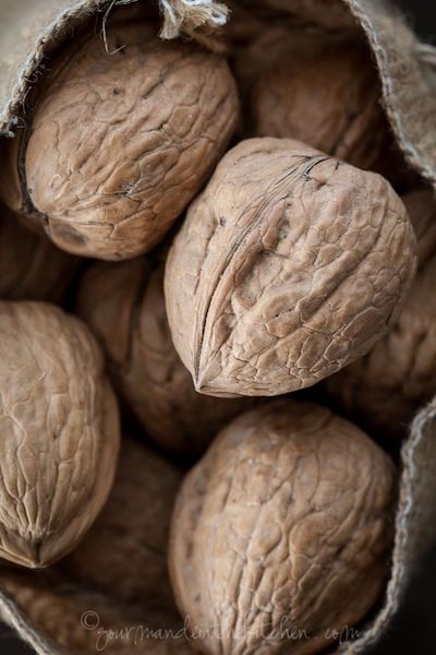 they had a huge English Walnut tree in their yard and grandpa would gather them all up and dry them in their attic...and then at Christmas time we would have big bowls of these gems to crack and munch on....he gave us a sapling and that tree is still in my parents yard today....61 years old...
