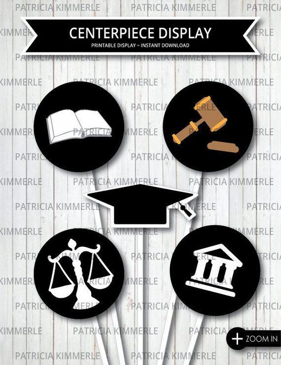 Centerpiece Printable Law School Criminal Justice Lawyer Judge Graduate Courthouse Jus Criminal Justice Graduation Law School Gift Law School Graduation
