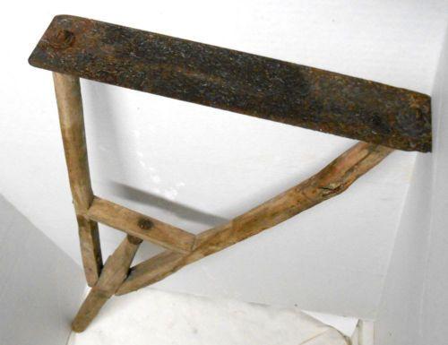 Antique-Primitive-wood-lawn-grass-cutter-mower-trimmer-sythe-sickle-farm-tool