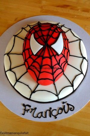 gateau spiderman facile anniversaire enfant tutoriel. Black Bedroom Furniture Sets. Home Design Ideas