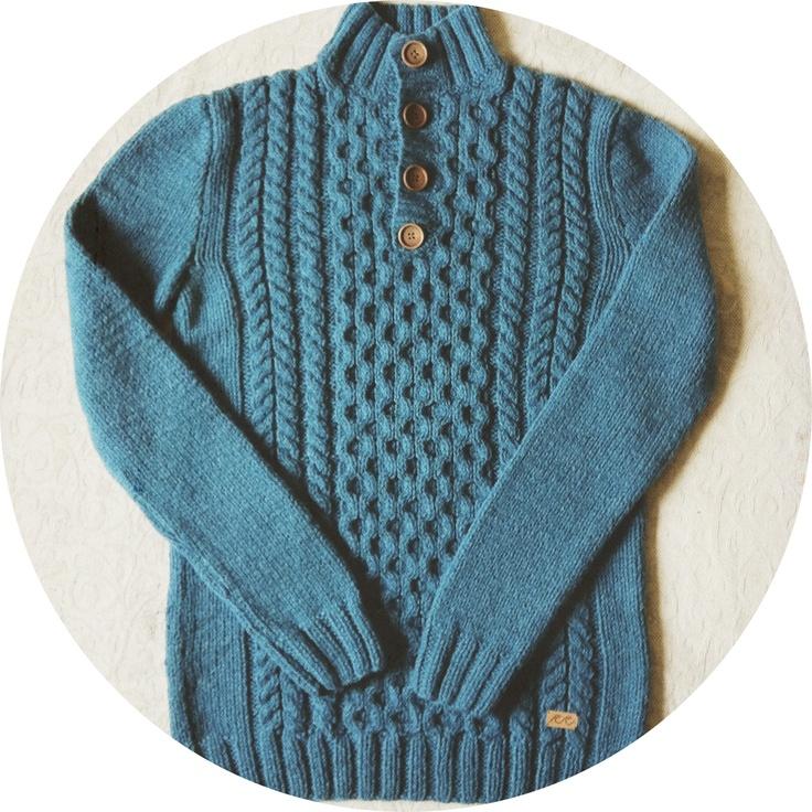 Handknitted sweater (#knitting #knit #handmade)