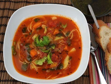 Minestronesoppa Italiensk grönsakssoppa | Receptfavoriter
