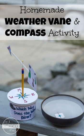 Homemade Weather Vane & Compass Activity                                                                                                                                                     More