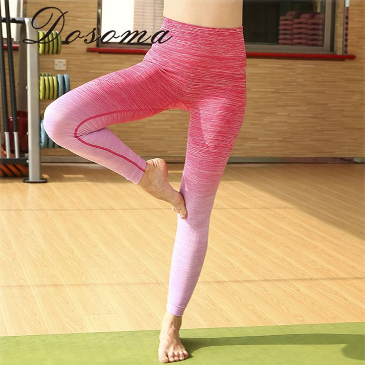 Women's <font><b>Sports</b></font> Yoga Pants Workout Fitness Legging Lady High Elastic Running Tight Girl Quick Dry <font><b>Wear</b></font> Moisture-wicking Trousers. *** Find out more by clicking the photo