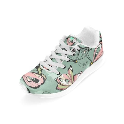 "Sneakers "" Papillons Kaki"""
