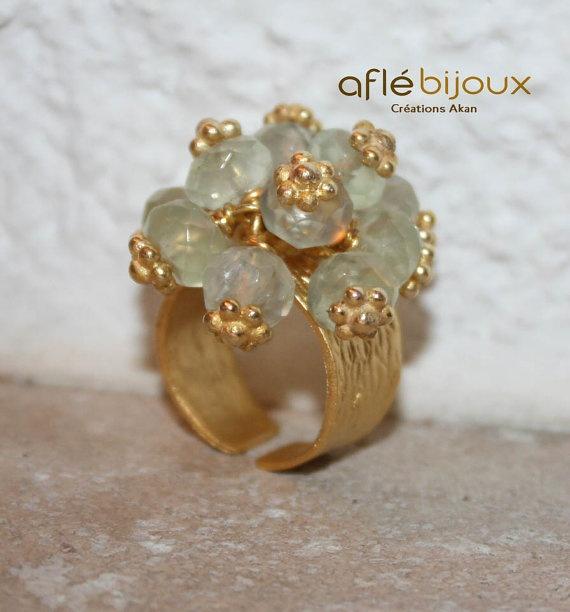 Aflé Bijoux Citrin Ring. #aflebijoux #bijoux #jewelry #etsy
