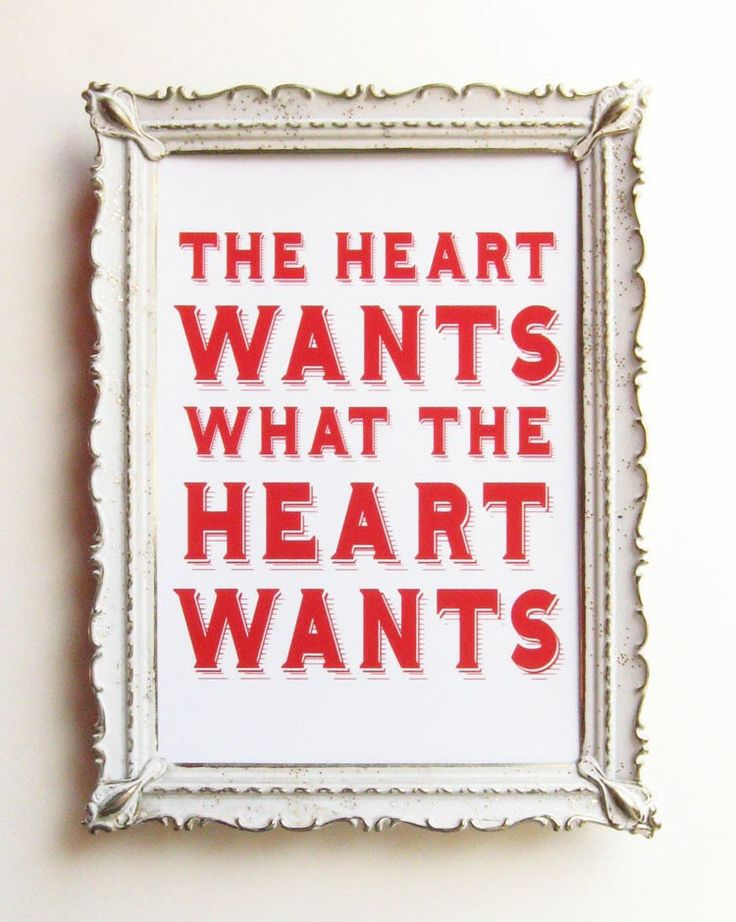 What the Heart Wants - Emily Dickinson Quote - 5 x 7 Love Print