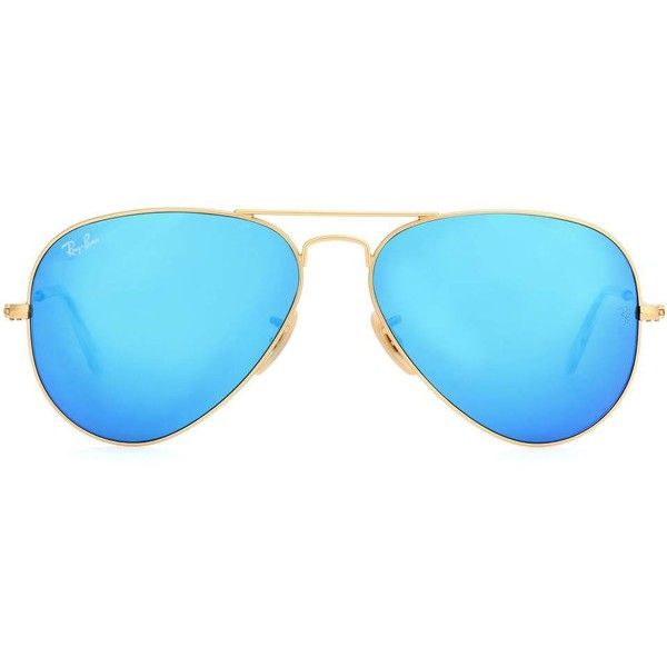 Ray-Ban RB3025 Aviator Sunglasses (92880 SYP) ❤ liked on Polyvore featuring accessories, eyewear, sunglasses, blue, blue aviator sunglasses, ray ban sunnies, ray ban glasses, blue glasses and blue sunglasses