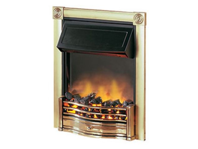 Dimplex Horton Electric Fire in Brass | Fireplace World