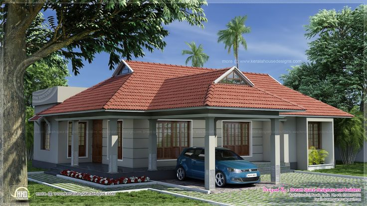 Single storey kerala style traditional villa 4 bedrooms for 2000 sq ft to yards