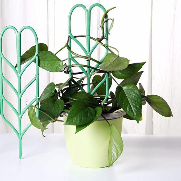 Exttlliy Plastic Leaf Shape Plant Support Diy Garden Mini 640 x 480