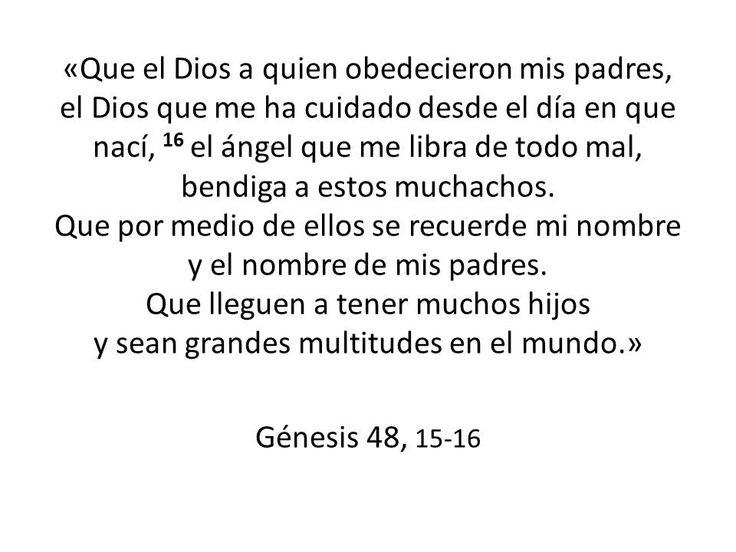 Bendición a los hijos (Genesis 48)