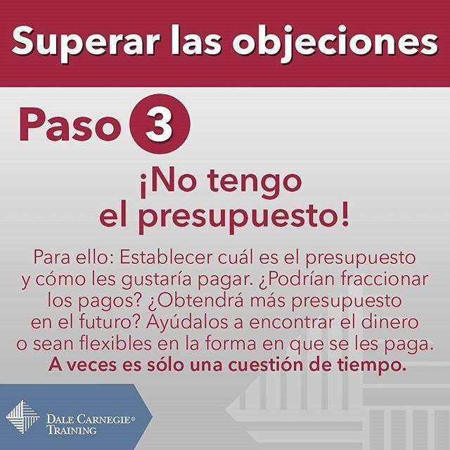 Hoy les presentamos el siguiente paso para superar las #objeciones. #DaleCarnegie #DaleCarnegieTraining #infographic #Ventas #Nicaragua