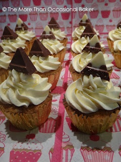 The more than occasional baker: Toblerone Cupcakes