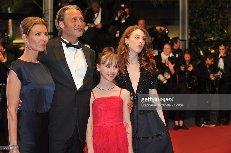 Hanne Jacobsen, Mads Mikkelsen, Melusine Mayance and Roxane Duran attend the 'Michael Kohlhaas' premiere during the 66th Cannes International Film Festival.