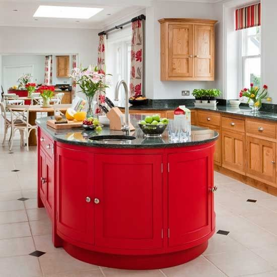 15 Must-see Red Kitchen Island Pins