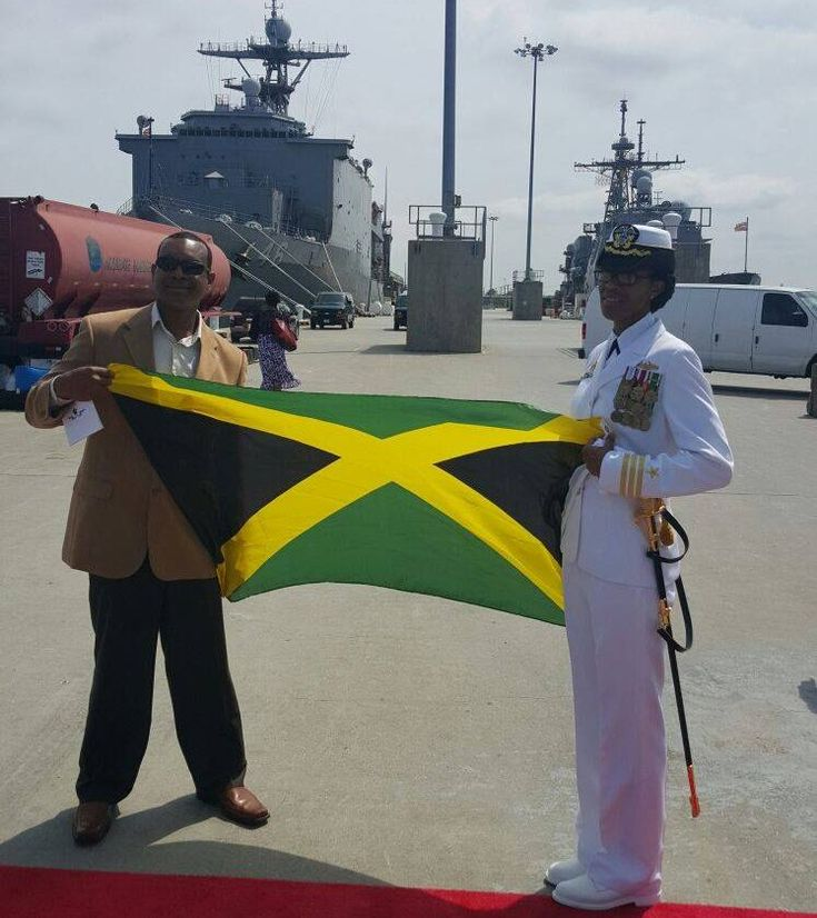 Commander Janice G. Smith became the first Jamaican-born to command a US Navy Destroyer when she assumed command of the Arleigh Burke-class guided-missile destroyer USS Oscar Austin (DDG 79) during a ceremony held at Naval Station Norfolk, May 2, 2016.