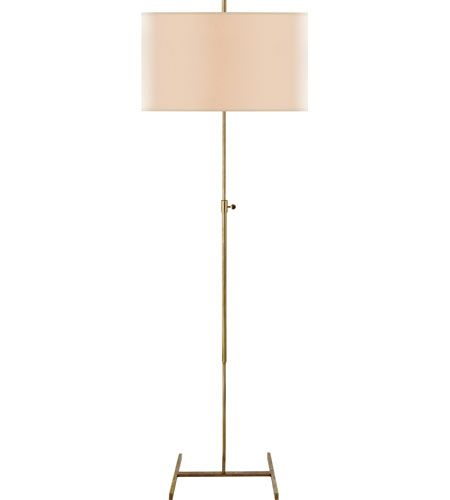 Visual Comfort Thomas OBrien Jake 1 Light Decorative Floor Lamp in Hand-Rubbed Antique Brass TOB1720HAB-NP   Lighting New York