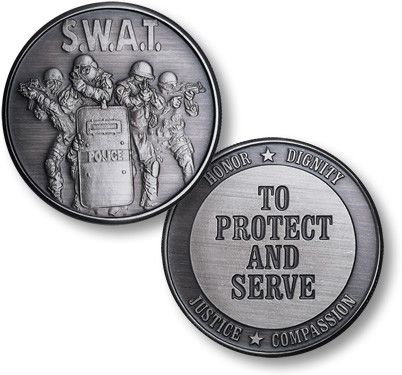 SWAT 4 Protect Nickel Antique Coin