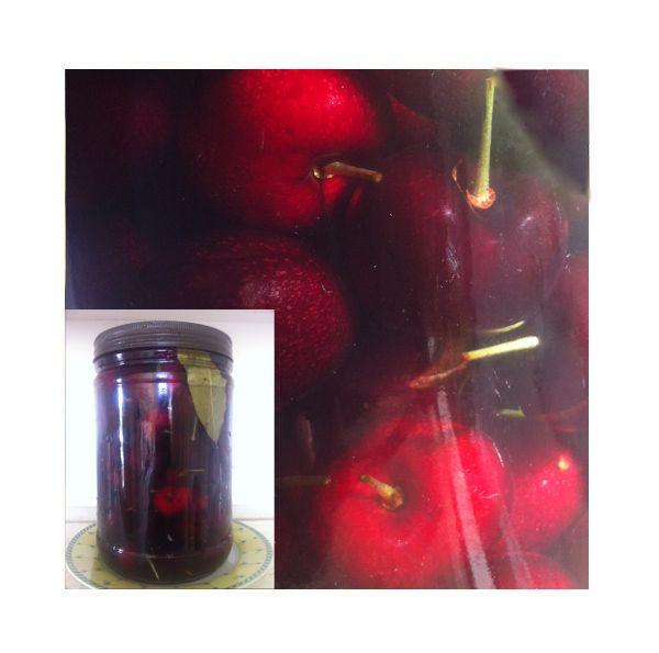 Pickled cherries