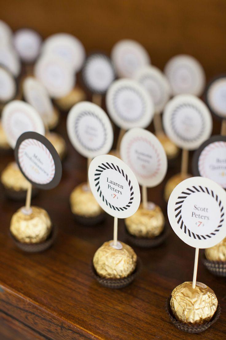 Ferrero Rocher...segnaposto d'oro e cioccolato!