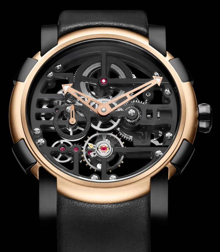 """Romain Jerome Skylab Spaceage Skeleton Watch - """"Something quite new from Swiss Romain Jerome, here is the Skylab. The new timepiece collection with its skeletonized dial and movement is unique but thematically related to the brand's other """"moon-themed"""" timepieces that began with the Moon Dust DNA collection, Romain Jerome's first follow-up model to the famed Titanic DNA watch, said to contain some actual dust particles from the moon & metal from the original Apollo XI spacecraft..."""""""