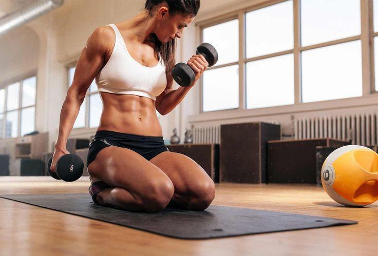 ПРОГРАММА УПРАЖНЕНИЙ С ГАНТЕЛЯМИ ДЛЯ ЖЕНЩИН  Забирай и делай!  Выбираем вес  Какой вес оптимален для тренировки с гантелями? Большинство тренеров считает, что нужно начинать с того веса, который вы можете спокойно удерживать на вытянутой руке. Для большинства женщин это 5 кг.  Для того чтобы получать постоянный прогресс от тренировок с гантелями, необходимо периодически увеличивать нагрузку. Для этого есть два варианта. Во-первых, вы можете увеличить число подходов. Стремитесь выполнять…