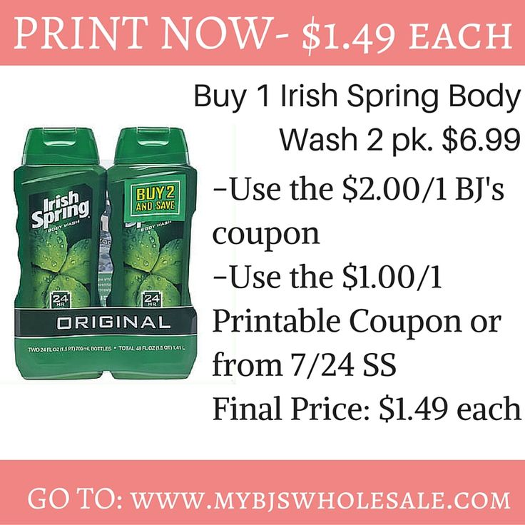 New Irish Spring Coupon: Hold for NICE Sale at BJ's Starting July 28 - http://www.mybjswholesale.com/2016/07/new-irish-spring-coupon-hold-nice-sale-bjs-starting-july-28.html/