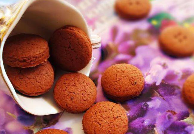 Постное шоколадно-черничное печенье