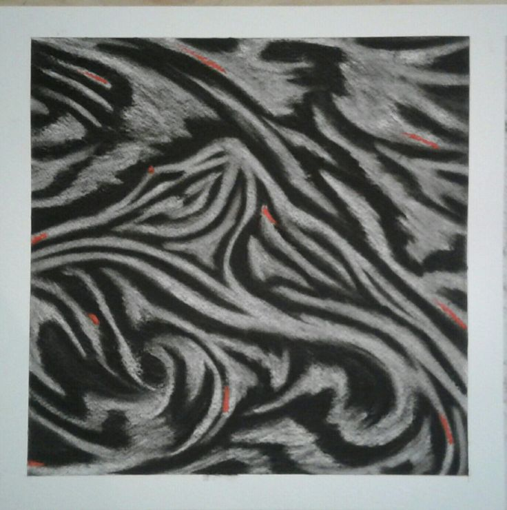 First proper commison finished- Abstract Island Bay- With Charcoal