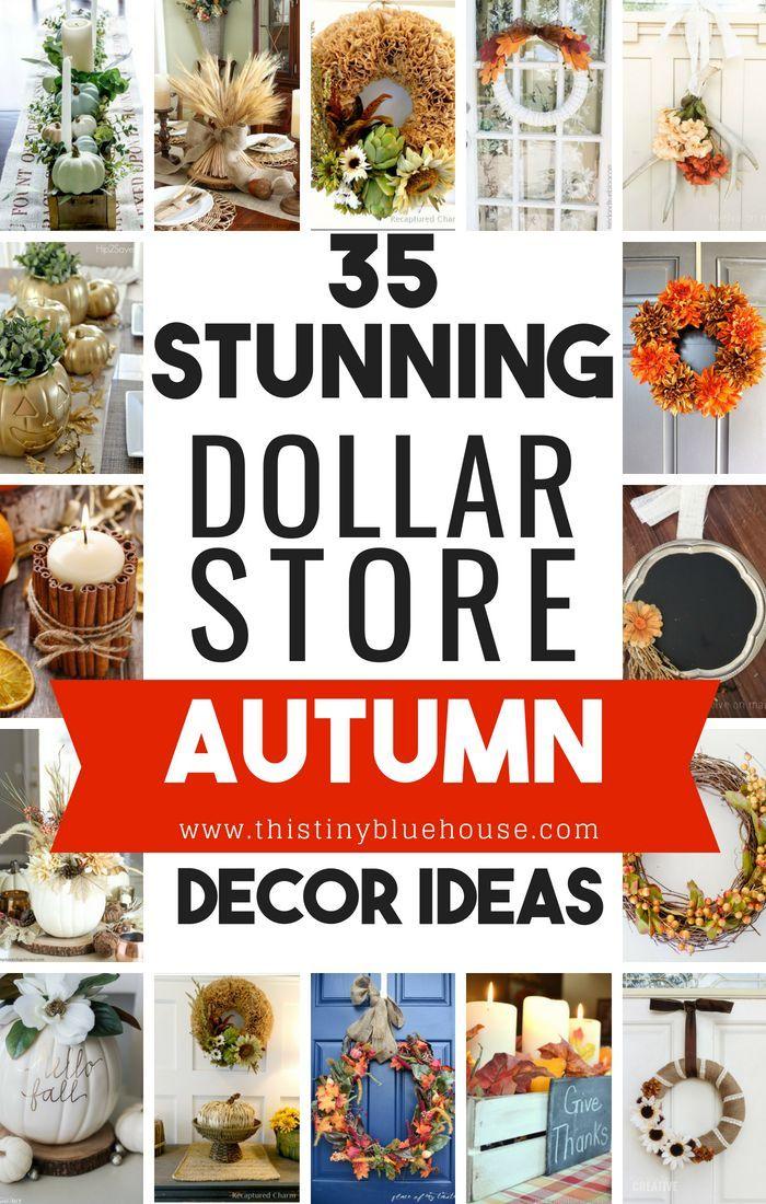 35 Stunning Dollar Store DIY Fall Decor Ideas | Home ...