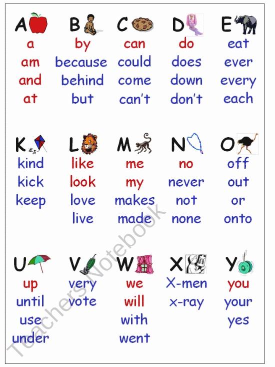 Sight Word Wall Folder product from Sharons-Shop on TeachersNotebook.com
