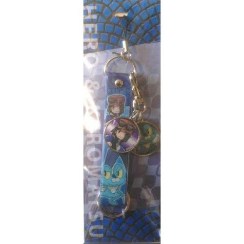 Pokemon Center 2014 Pokemon & Trainers Campaign Calem Froakie Mobile Phone Charm Strap