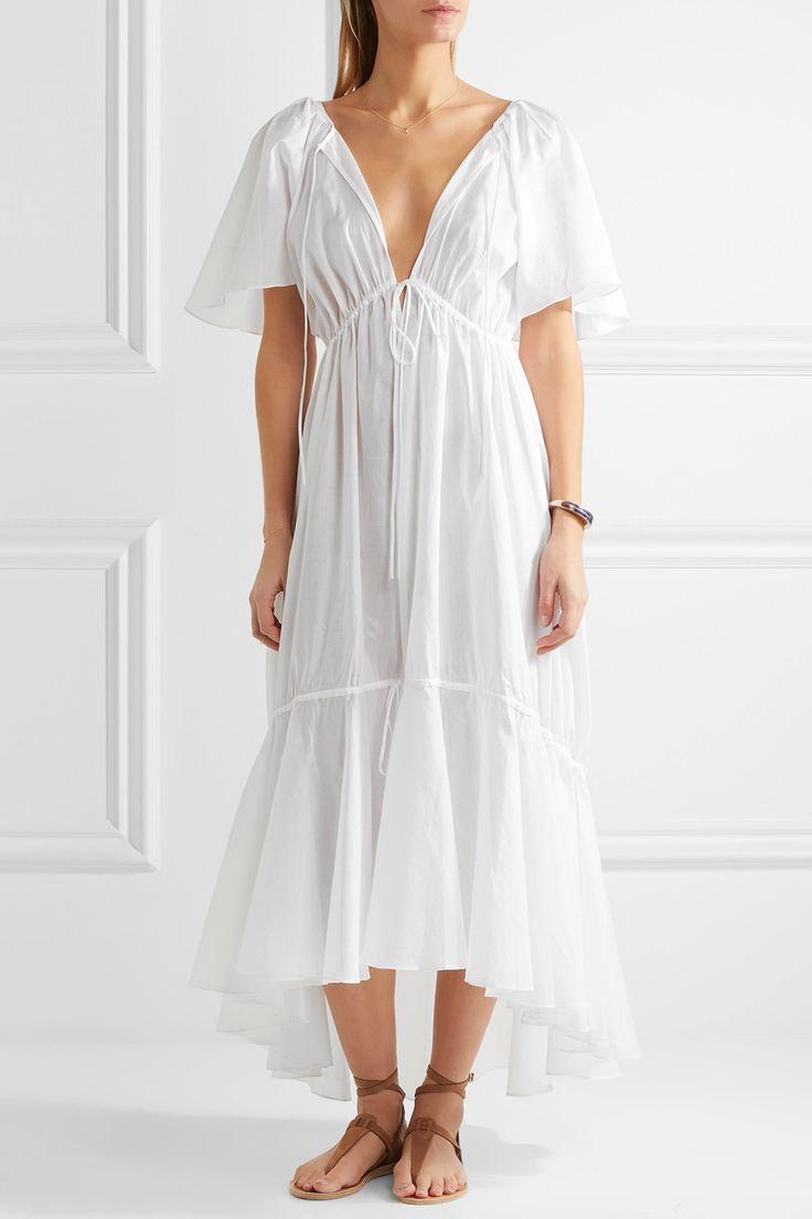 Три грации Лондон   Бетси многоуровневого хлопка-вуаль платье макси   NET-A-PORTER.COM