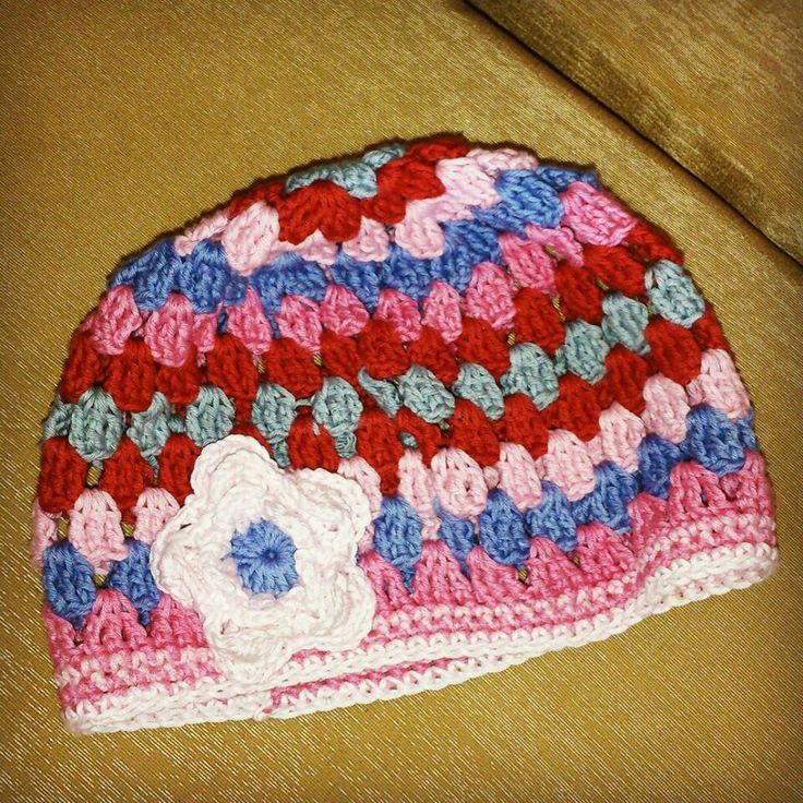 Granny hat crochet, #babygirl