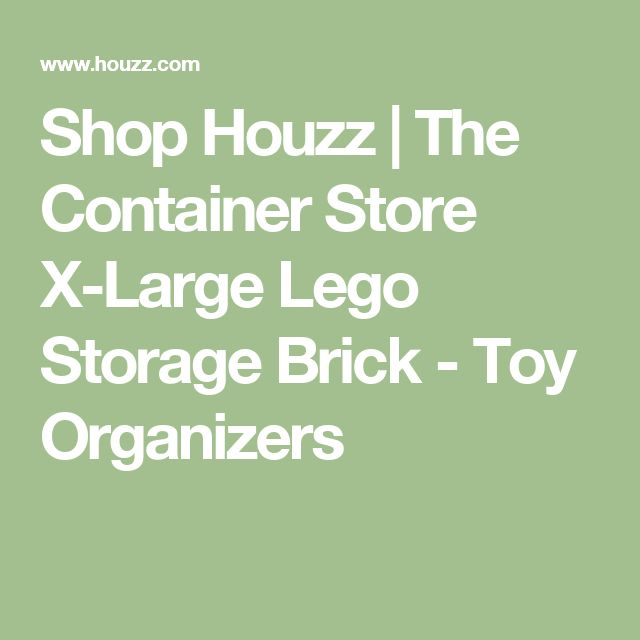 Shop Houzz | The Container Store X-Large Lego Storage Brick - Toy Organizers