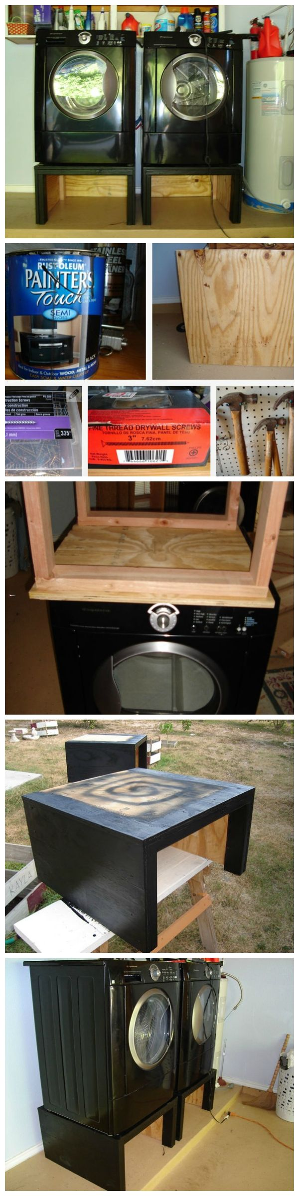 building a washing machine pedestal