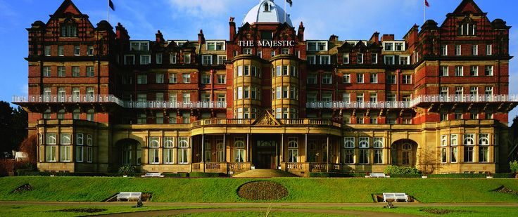 "The Majestic, Harrogate, Yorkshire, England. A hotel called ""The Majestic"" in Harrogate, Yorkshire."