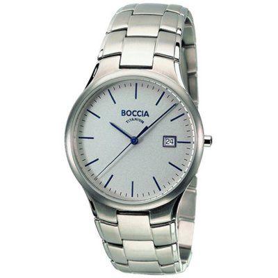 Boccia Mens Silver Dial Titanium Bracelet Watch - B3512-01 - RRP: £125.00 - Online Price: £106.25