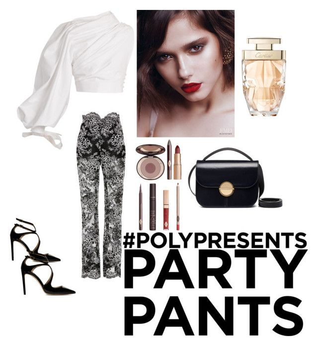 """#PolyPresents: Fancy Pants"" by rara-attamimi09 on Polyvore featuring Jacquemus, Jimmy Choo, Charlotte Tilbury, Cartier, Marni, contestentry and polyPresents"